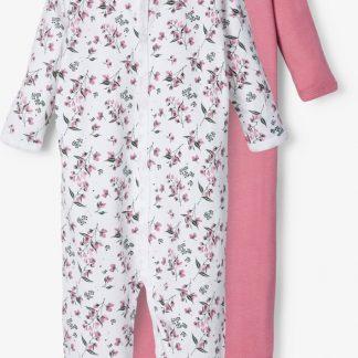 Name it Meisjes 2-Pack Boxpak Onesies Bloemenprint - Heather Rose - Maat 62