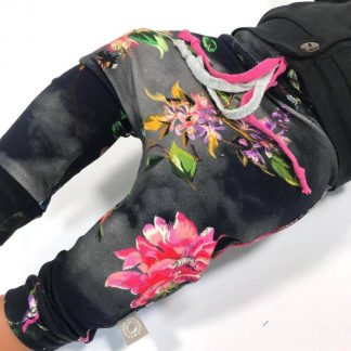 tinymoon Meisjes Broek - model drop crotch - Shinrin Yoku - Zwart - Maat 62/68