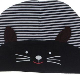 Babymuts kat zwart