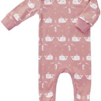 Fresk pyjama met voet Whale mellow rose