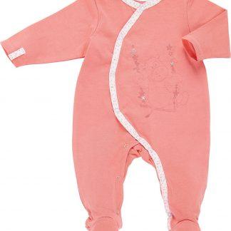 Noukie's Perzikkleurig pyjama trappelpakje-12M