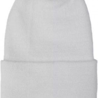 Geboortemuts / babymuts / ziekenhuismuts wit met strik - 0 tot 1 maand