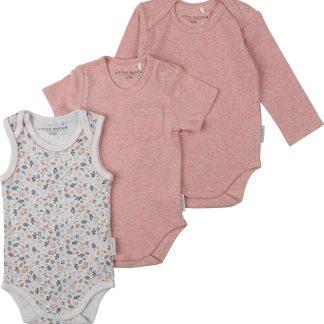 Little Dutch, meisjes 3- delige romper set, roze - maat 74/80