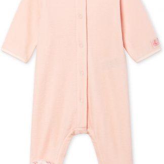 Petit Bateau Meisjes Babypyjama - roze - Maat 1 mnd (54 cm)