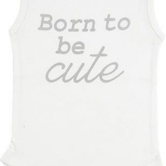Fun2Wear Romper Born Cute Off White maat 74