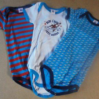 Petit Bateau Baby Multipack Rompertje 86