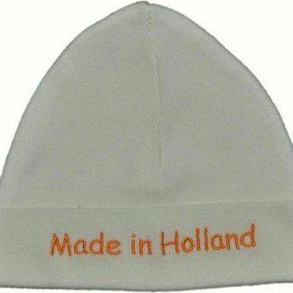 Babymuts ecru Made in Holland maat 50 tot 56