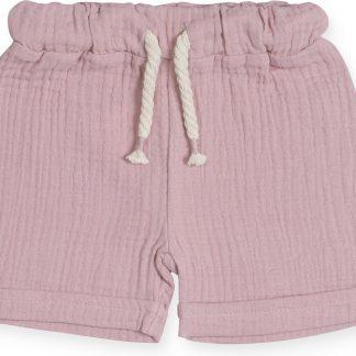 Jollein Meisjes Broek - Cotton wrinkled pink - Maat 74/80