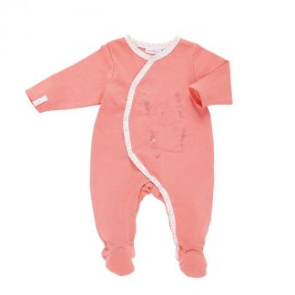 Perzikkleurig pyjama trappelpakje-6M