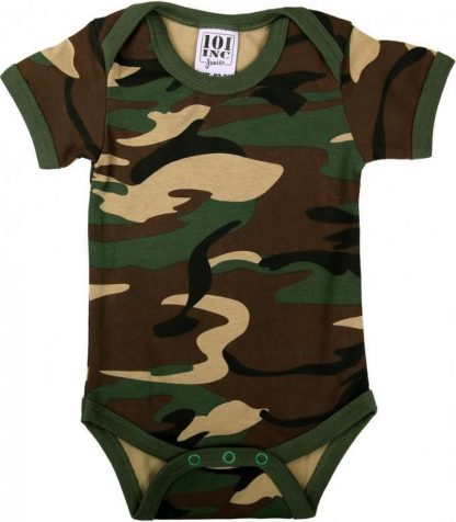 Baby rompertje camouflage 54-56 (0-2 mnd)