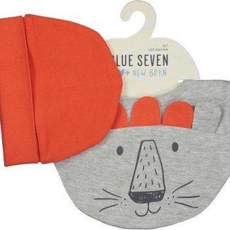 Blue Seven - newborn 2-delige set babymuts + slab/sjaal