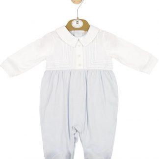 Boxpakje jongen - babykleding jongen - blauw boxpakje met kraagje - Mintini baby