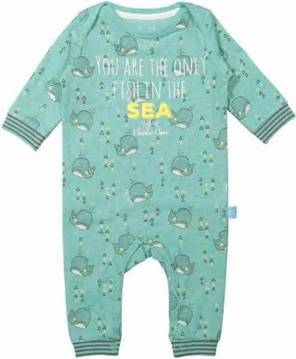 Charlie Choe Unisex Jumpsuit Pyjama Zeegroen - Maat 56