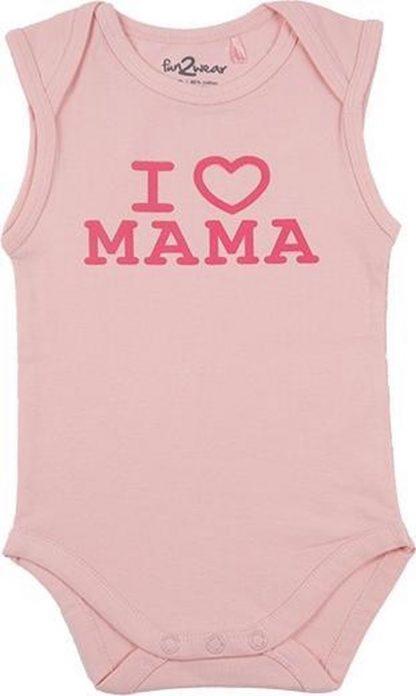 Fun2Wear Meisjes Romper love mama - Roze - Maat 68