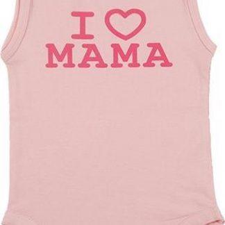 Fun2Wear Meisjes Romper love mama - Roze - Maat 74
