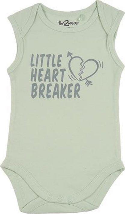 Fun2Wear Romper little heart Green maat 62