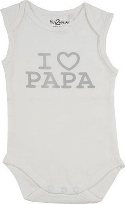 Fun2Wear Romper love papa offwhite maat 74