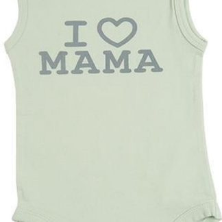 Fun2Wear Unisex Romper love mama - Groen - Maat 50