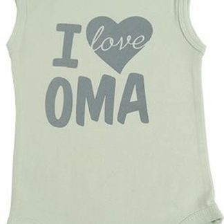 Fun2Wear Unisex Romper love oma - Groen - Maat 62