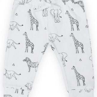 Jollein Unisex Broek - Safari black white - Maat 62/68