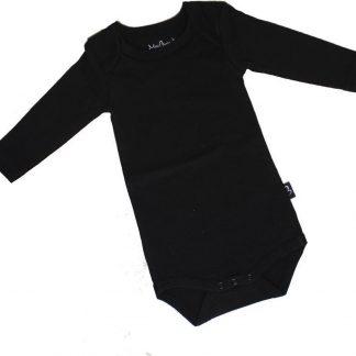 KinderBasics Romper Envelophals & lange mouw - Zwart - 92