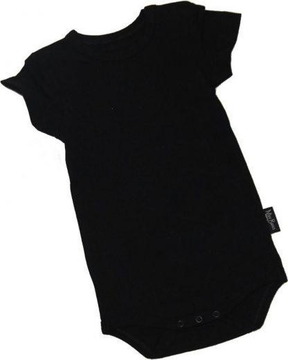 KinderBasicsRomper Korte mouw - Zwart - 62