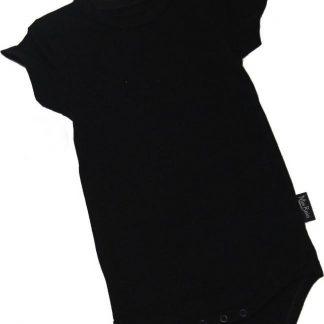 KinderBasicsRomper Korte mouw - Zwart - 68
