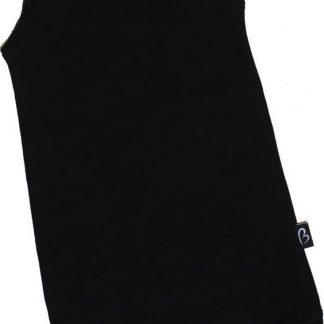 KinderBasicsRomper Meisje Hemdmodel - Zwart - 50