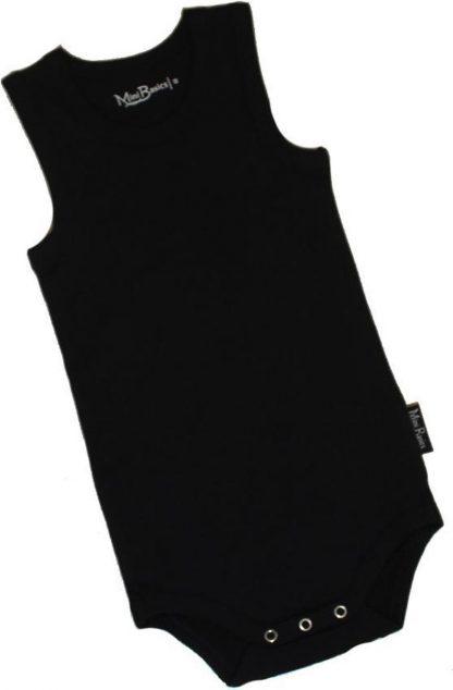 KinderBasicsRomper Unisex Hemdmodel - Zwart - 68