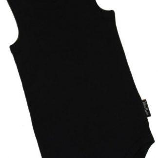 KinderBasicsRomper Unisex Hemdmodel - Zwart - 74