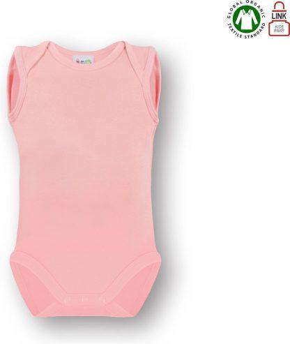Link Kidswear Meisjes Romper GOTS - Baby Roze - Maat 50/56