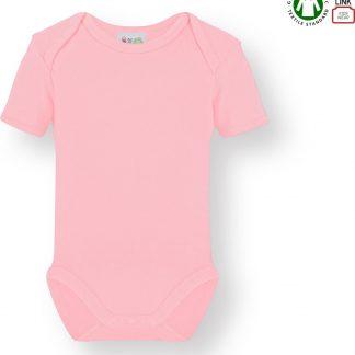 Link Kidswear Meisjes Romper GOTS - Baby Roze - Maat 62/68