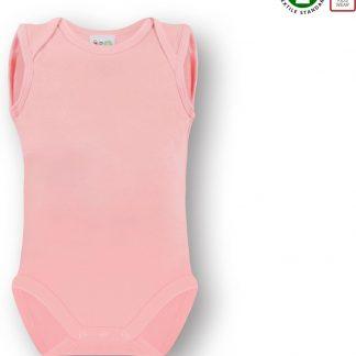 Link Kidswear Meisjes Romper GOTS - Baby Roze - Maat 74/80