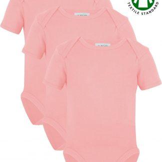 Link Kidswear Meisjes Rompertje GOTS - Baby Roze - Maat 62/68