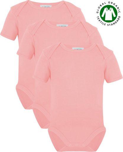 Link Kidswear Meisjes Rompertje GOTS - Baby Roze - Maat 74/80