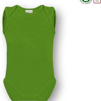 Link Kidswear Unisex Romper GOTS - Lime Groen - Maat 50/56