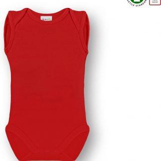Link Kidswear Unisex Romper GOTS - Rood - Maat 50/56