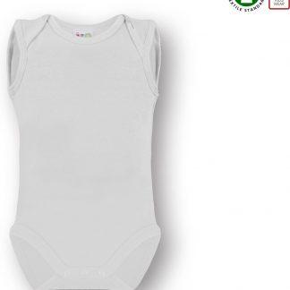 Link Kidswear Unisex Romper GOTS - Wit - Maat 50/56
