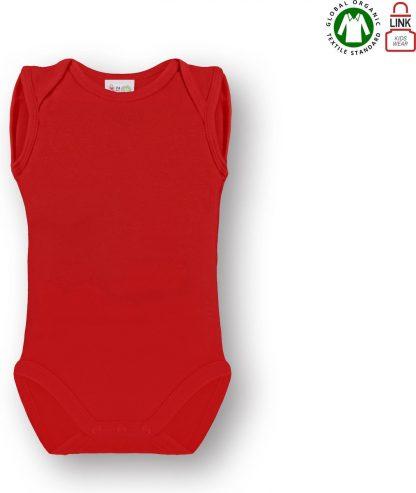 Link Kidswear Unisex Rompertje - Rood - Maat 74/80
