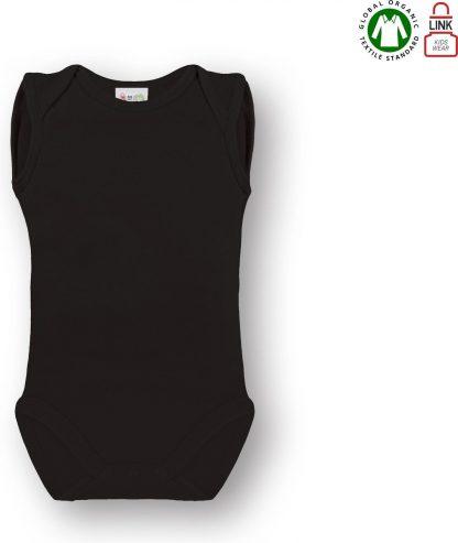 Link Kidswear Unisex Rompertje - Zwart - Maat 50/56