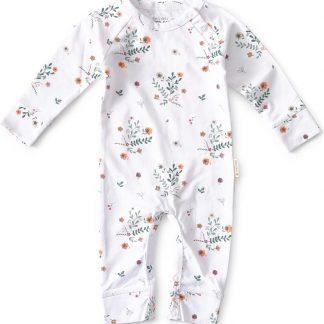 Little Label - babypakje - wit bloemen - maat 62 - bio katoen
