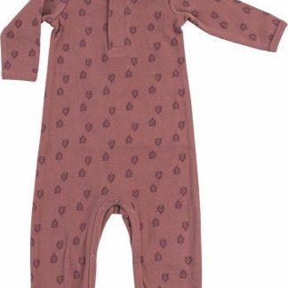 Lodger Baby Playsuit 4-6 maanden - Jumper Rib - 100% Katoen - Handige Overslag - Drukknoopjes - Oeko-Tex - Roze - maat 68