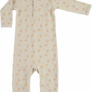 Lodger Babypakje 0-2 maanden - Jumper Rib - 100% Katoen - Handige Overslag - Drukknoopjes - Oeko-Tex - Beige - maat 56