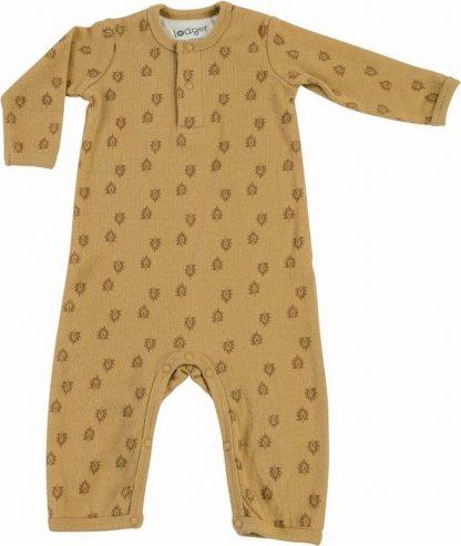 Lodger Babypakje 0-2 maanden - Jumper Rib - 100% Katoen - Handige Overslag - Drukknoopjes - Oeko-Tex - Okergeel - maat 56