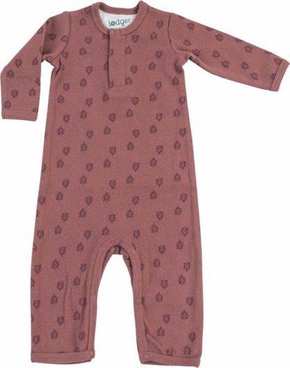 Lodger Babypakje 0-2 maanden - Jumper Rib - 100% Katoen - Handige Overslag - Drukknoopjes - Oeko-Tex - Roze - maat 56