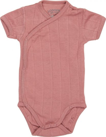 Lodger Rompertje Baby - Romper Solid - Roze - Korte mouw - 56