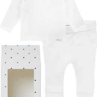 Noppies GiftSet(2delig) Unisex Shirt Wit Broek Wit - Maat 62