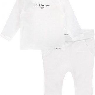 Noppies Set(2delig) Unisex Shirt Wit Broek Wit - Maat 62