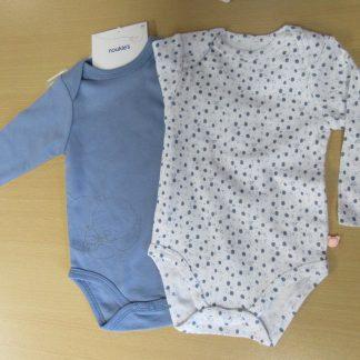 Noukie's 2pack bodyset blauw met lange mouw 18 maand 86