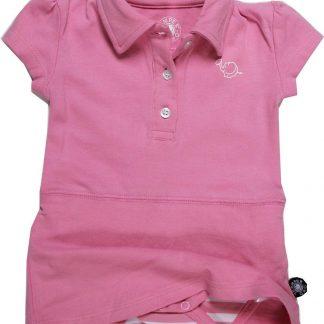 Romper polo jurkje roze 98/104